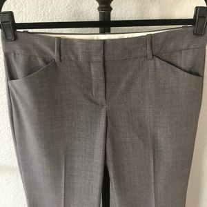 THEORY Gray Wool Wider Leg Work Pants/Trousers 8